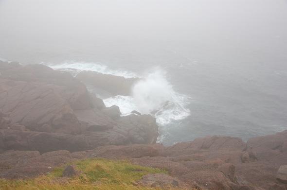 Cape Spear shoreline & fog